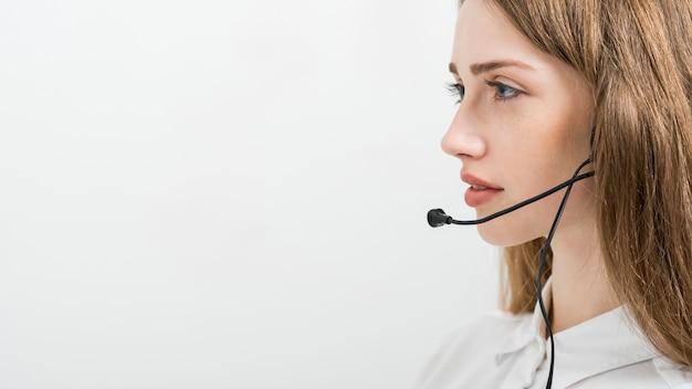 Ritratto di donna centro di chiamata