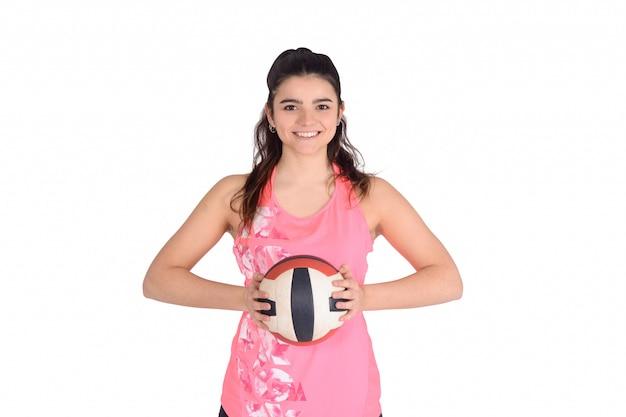 Ritratto di donna di pallavolo.