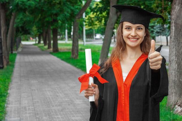 Ritratto di donna nel suo giorno di laurea
