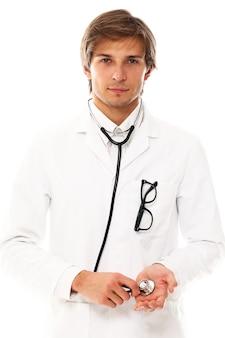 Ritratto di giovane uomo medico