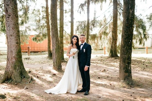 Ritratto di sposi in natura