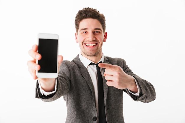 Ritratto di un giovane imprenditore felice