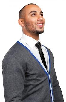 Ritratto di un giovane uomo d'affari riflessivo