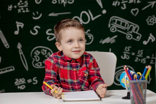 Ritratto di un ragazzino che attinge un taccuino