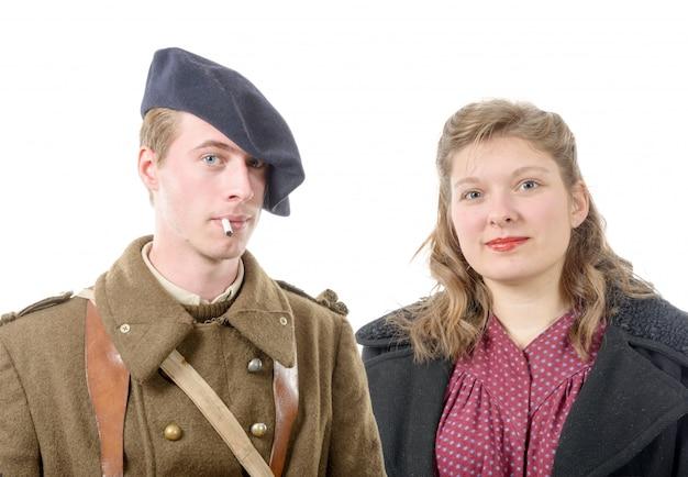 Ritratto di un soldato francese e sua moglie