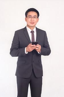 Ritratto di un uomo d'affari asiatico che indossa un abito giacca