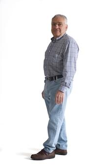 Ritratto di un uomo maturo corpo pieno
