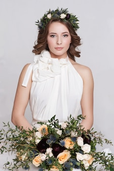 Ritratto di una bella sposa.