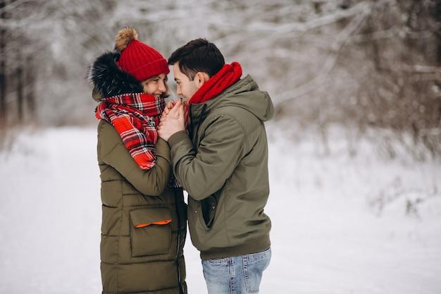 Ritratto di una coppia a san valentino