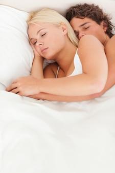Ritratto di una coppia che dorme