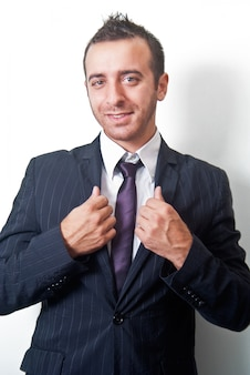 Ritratto di uomo d'affari bello