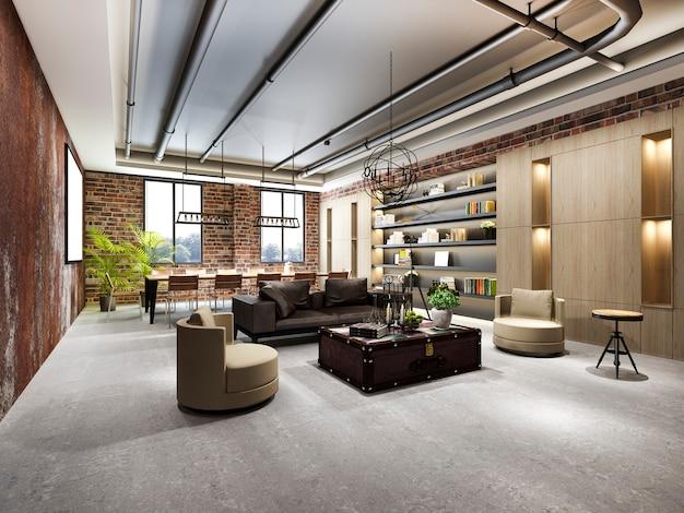 Riunione d'affari di lusso e sala di lavoro industriale