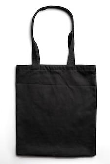 Riutilizzabile eco bag su sfondo bianco. concetto di rifiuti zero