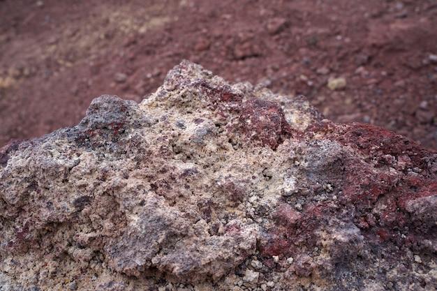 Roccia vulcanica di lava