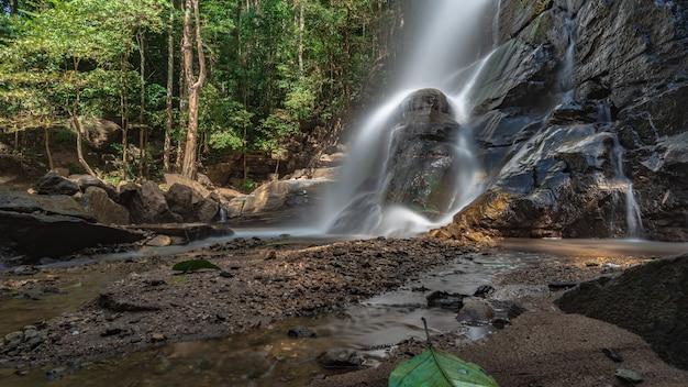 Rock cliff waterfall