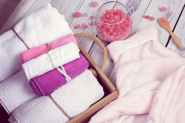 Rosa set di accessori da bagno per spa