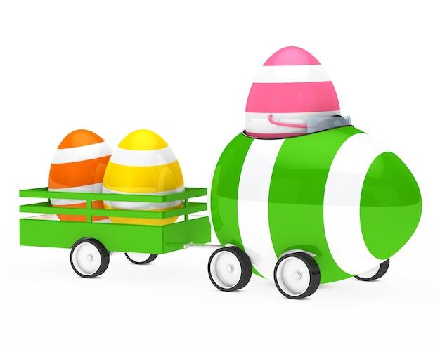 Rosa uovo trasporto di altre uova