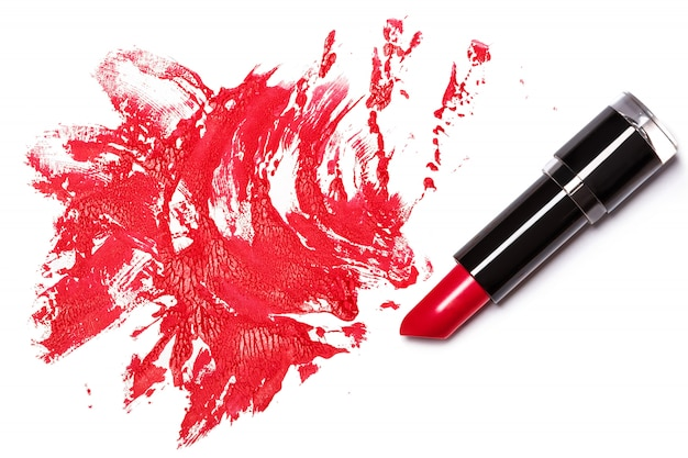 Rossetto rosso con traccia