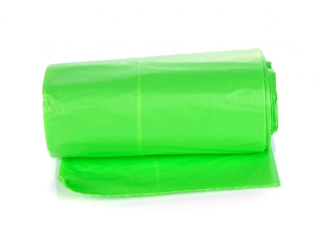 Rotoli di sacchetti di immondizia verde