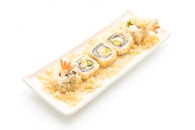 Rotolo di sushi di gamberetti tempura - stile di cibo giapponese