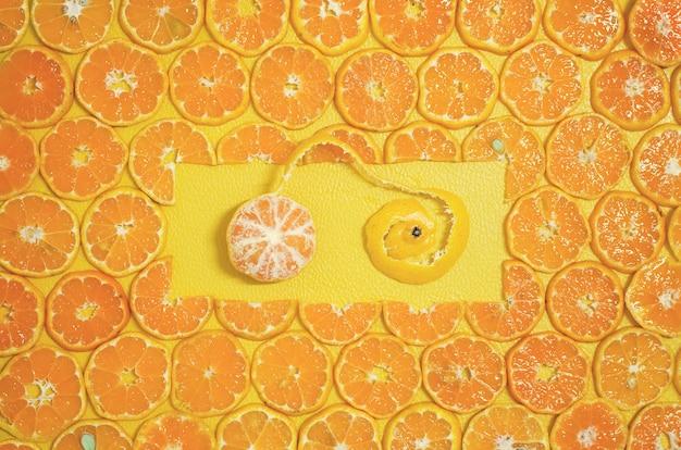 Round orange slices fruit 2017 xmas