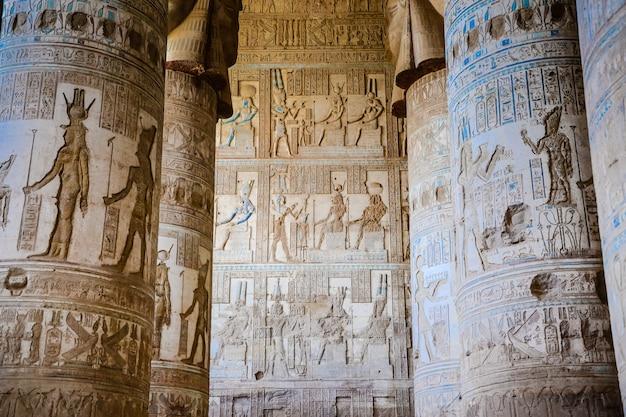 Rovine del tempio di dendera. egitto