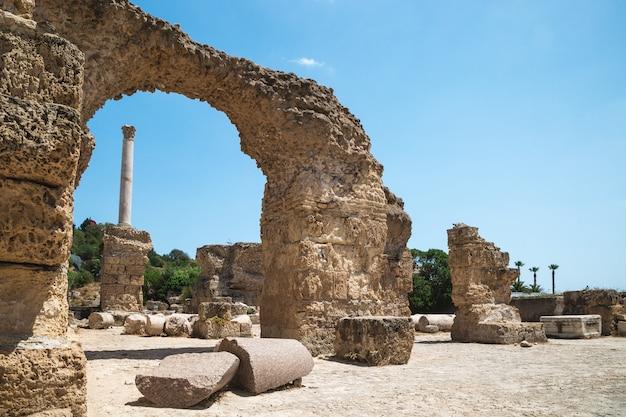 Rovine delle terme di antonino. cartagine, tunisia.