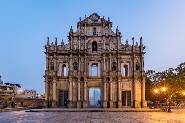 Rovine di st. paul's, punto di riferimento di macao, nel 2005, sono stati ufficialmente elencati come parte del centro storico di macao