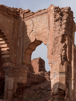 Rovine di una kasbah, telouet, ouarzazate, marocco