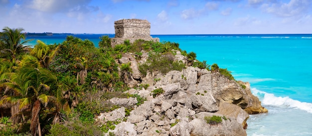 Rovine maya della città di tulum in riviera maya
