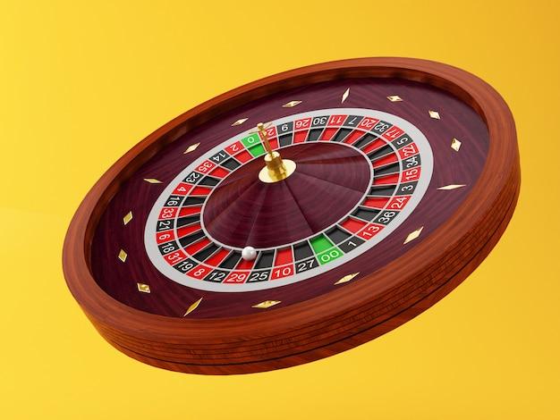 Ruota della roulette del casinò 3d
