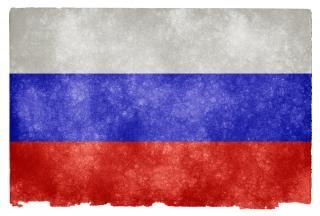 Russia grunge bandiera blu