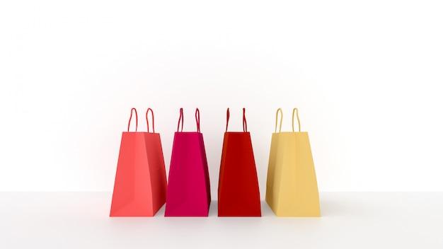 Sacchetti di carta colorata per lo shopping
