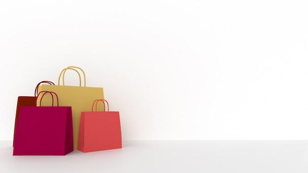 Sacchetti di carta d'acquisto con copyspace
