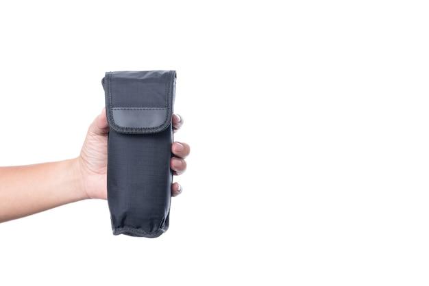 Sacchetto del sacchetto del flash della torcia elettrica della tenuta della mano, un'attrezzatura della macchina fotografica