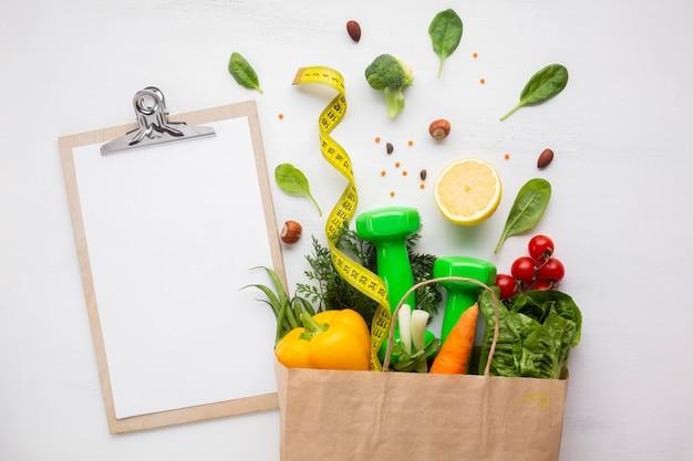 Sacchetto di generi alimentari con spazio di copia