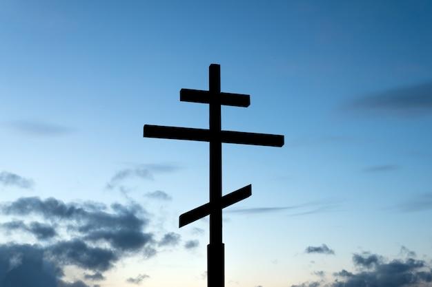 Sagoma della croce cristiana ortodossa
