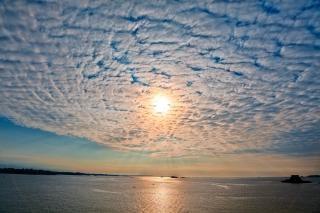 Saint malo tramonto hdr paesaggio sullo sfondo