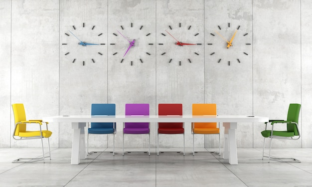 Sala conferenze colorata