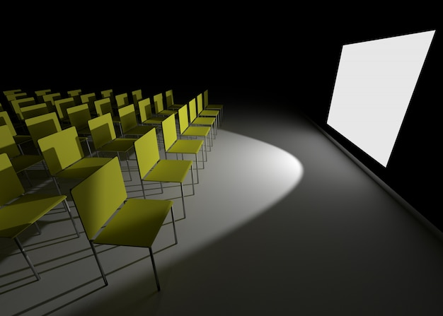Sala conferenze come il cinema