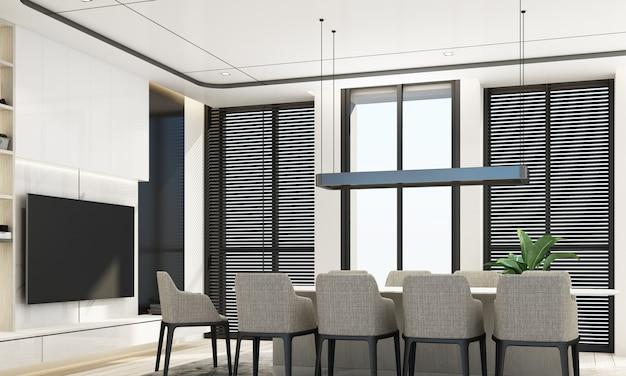 Sala da pranzo in stile moderno di lusso