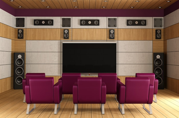 Sala home theater di lusso