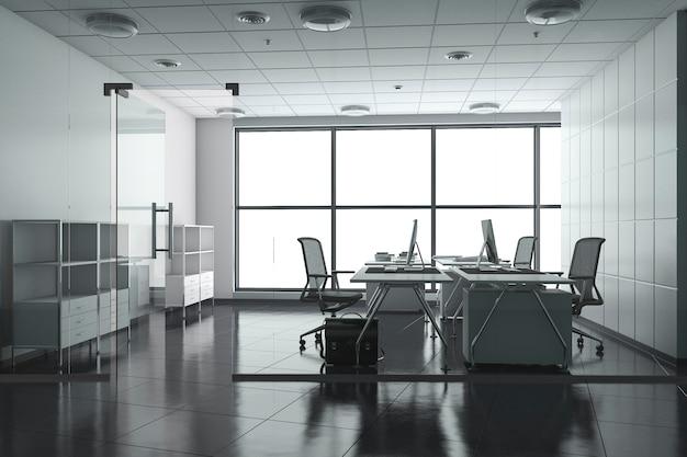 Sala riunioni d'affari della rappresentazione 3d sull'alta costruzione dell'ufficio