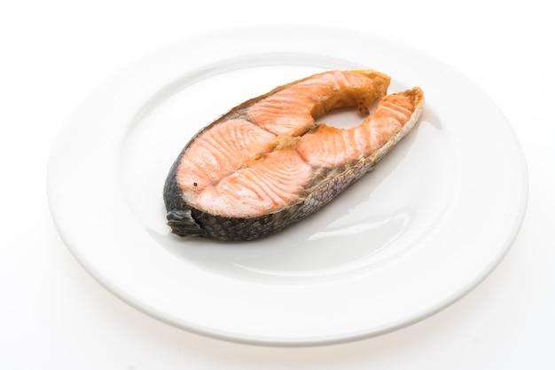 Salmone bistecca fritta