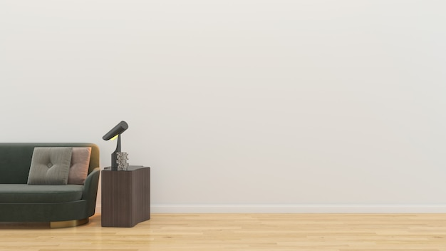 Salone interno in casa vuota