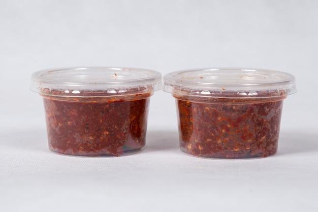 Salsa al peperoncino, pasta di peperoncino. cibo thailandese