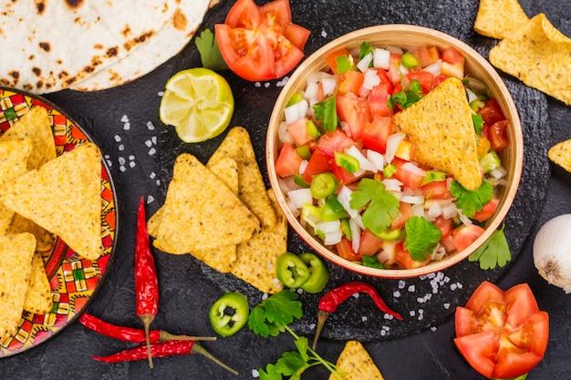 Salsa messicana di pico de gallo