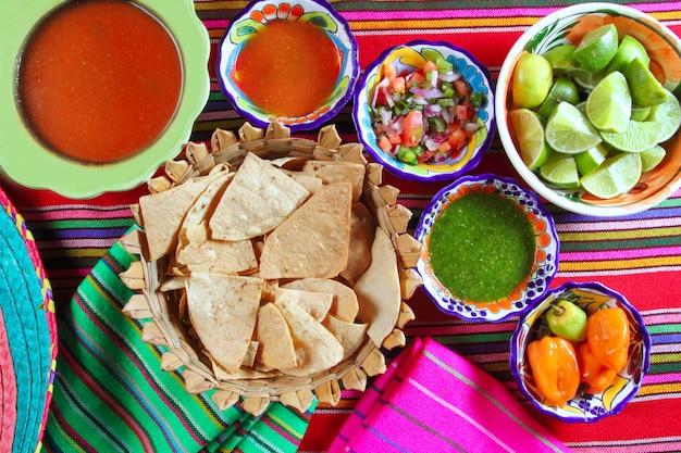Salsa messicana pico de gallo habanero salsa chili