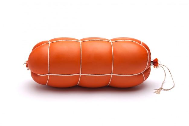 Salsiccia cotta isolata