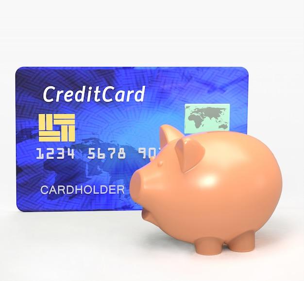 Salvadanaio con carta di credito